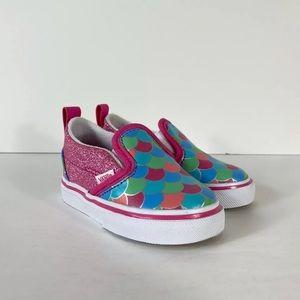 Vans Slip-On V Mermaid Scales Glitter Sneakers